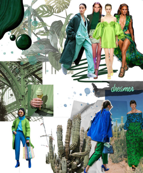 moodboard green and blue